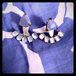 Stella and dot periwinkle ear jackets